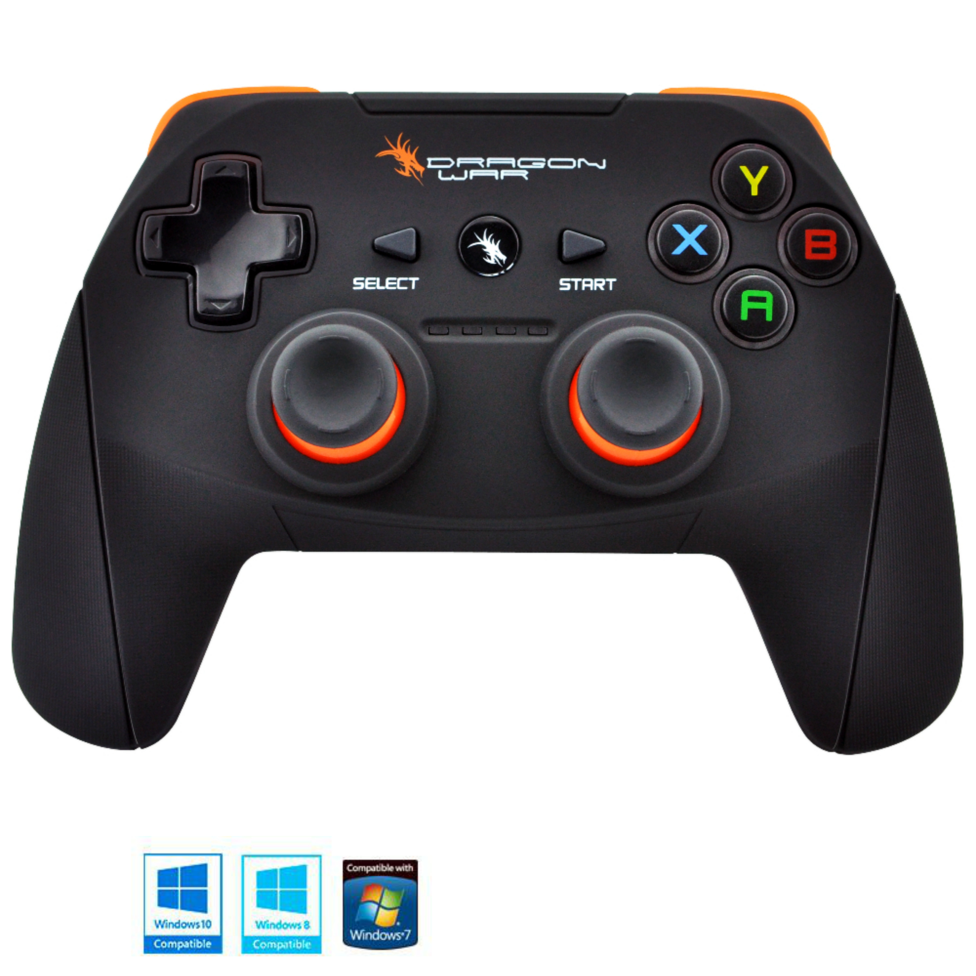 Dragonwar Shock Ultimate 17 Key Wireless Computer Game Controller Gamepad with Full Vibration For PC, Compatible with Windows 10