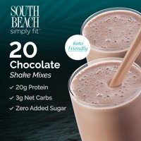 South Beach Simply Fit Keto- Friendly Shake, Chocolate 20CT