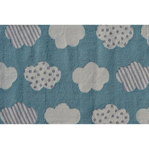 "The Rug Market Cloudy Day Aqua 2.8"" x 4.8"" Area Rug by The Rug Market"