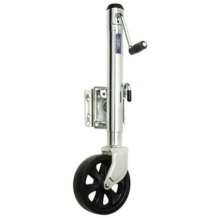 "Fulton XP15L 0101 12"" Travel 1,500 lb Max Load Bolt Thru Swivel Jack with 8"" Wheel"