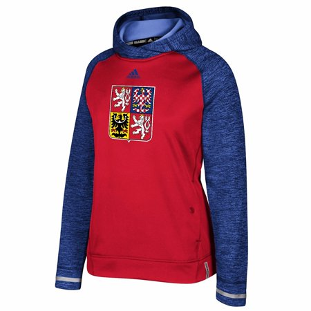 Czech Republic NHL Adidas Red 2016 World Cup of Hockey ClimaWarm Player Pullover Hoodie For Women