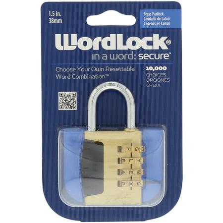 Wordlock PL-056-SL 4-Dial Combination Sports - Sport Lock Aluminum Lock