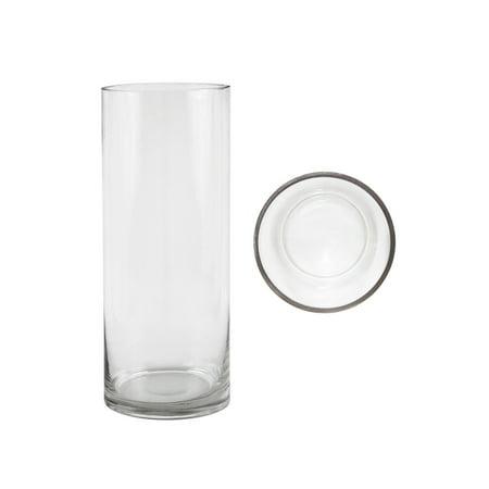 Mega Vases 4 X 10 Cylinder Glass Vase Set Of 1 Clear