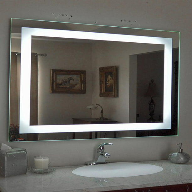 Ktaxon Anti Fog Wall Mounted Lighted Vanity Mirror Led Bathroom Mirror Anti Fog And Ip67 Waterproof Rectangle Walmart Com Walmart Com