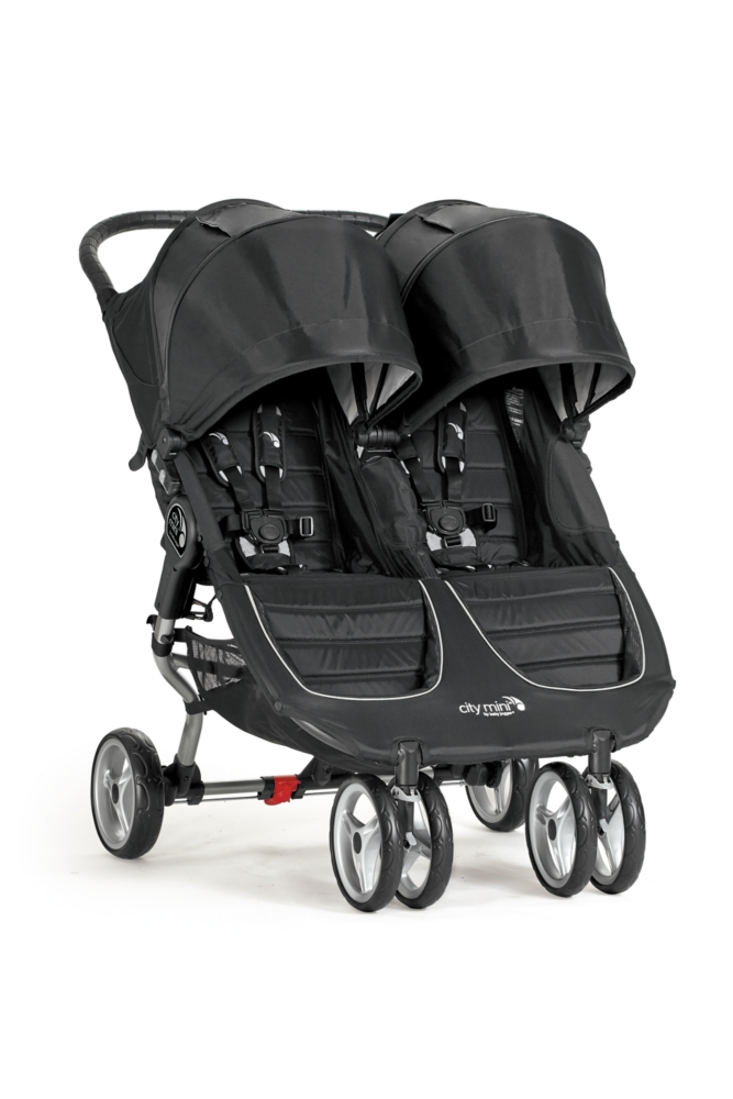 Baby Jogger 2016 City Mini Double Stroller Crimson Gray by Graco