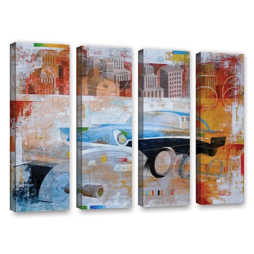 ArtWall '56' by Greg Simanson 4 Piece Graphic Art on Wrapped Canvas Set