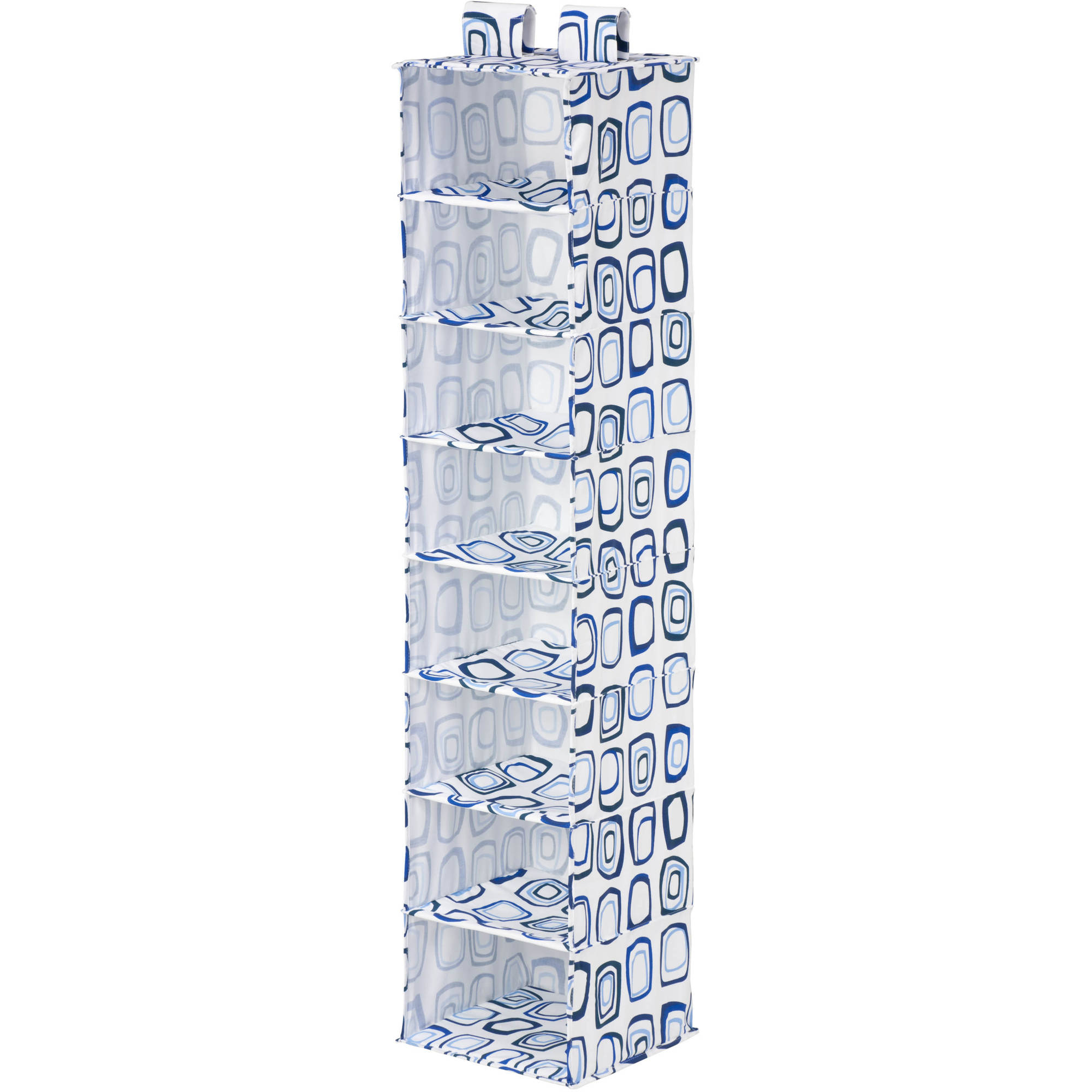 Honey Can Do 8 Shelf Hanging Organizer, Blue White by Honey Can Do