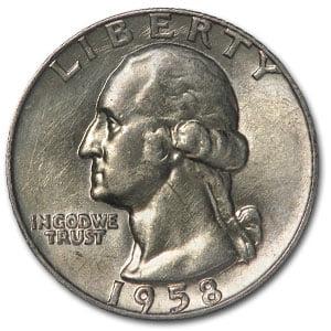 Quarter Us Mint - 1958-D Washington Quarter BU