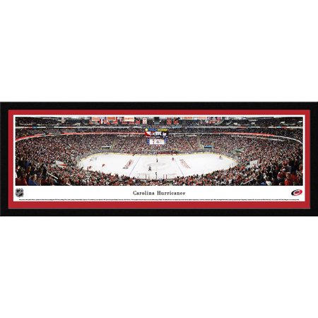 Carolina Hurricanes Center Ice at PNC Arena Blakeway Panoramas NHL Print with Select Frame and Single Mat by