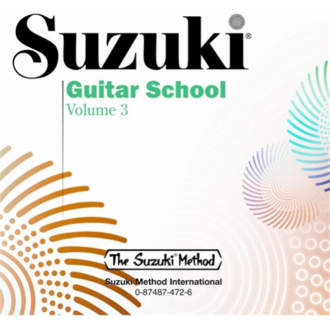 Alfred 00-0472 Suzuki Guitar School CD- Volume 3 - Music Book