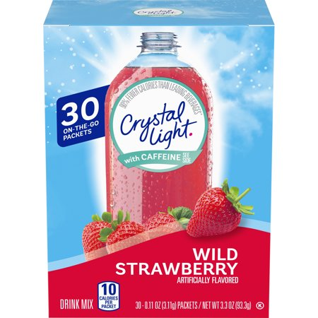 Crystal Light Sugar Free Wild Strawberry Powdered Drink Mix, 30 ct - Packets