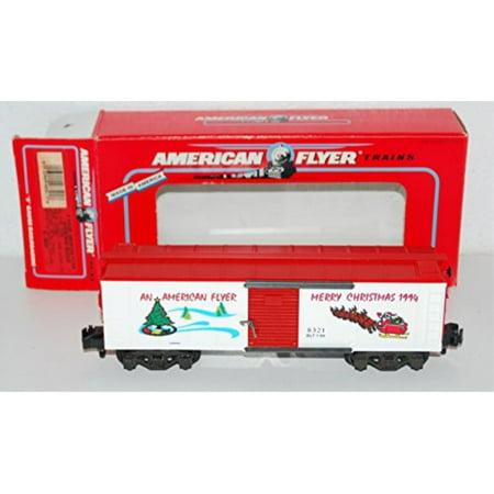 American Flyer 6-48321 Merry Christmas Boxcar S gauge Santa sleigh reindeer (Santa's Best Christmas Tree Remote Control)