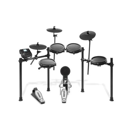 Alesis Nitro Mesh Kit Eight-Piece Electronic Drum Kit with Mesh (Best Portable Drum Kit)