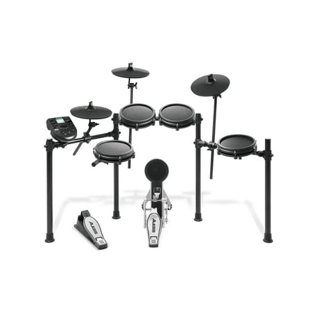 Alesis Electronic Drum Set - Alesis Nitro Mesh Kit Eight-Piece Electronic Drum Kit with Mesh Heads