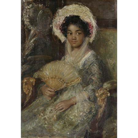 Young Woman With A Fan By Simon Maris C 1906 Dutch Painting Oil On Canvas The Woman Was One Of MarisS Favorite Models But Her Identity Is Unknown Poster - Fan Oil Paintings