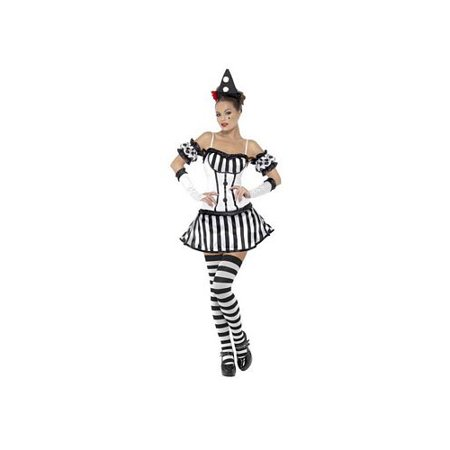 Kinky Clown Mime Costume 33295 Smiffy's Black/White for $<!---->