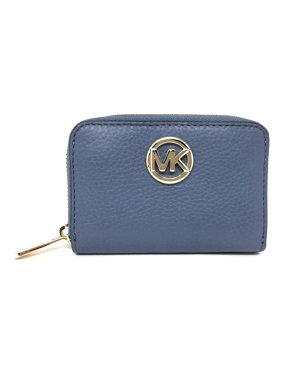 a0bba825e767 Product Image Michael Kors Fulton Leather Zip Around Coin Case - Denim Blue
