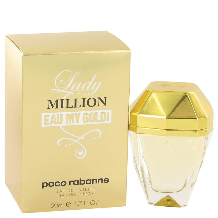 Paco Rabanne Lady Million Eau My Gold Eau De Toilette Spray for Women 1.7 oz