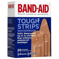 Band-Aid Tough-Strips Adhesive Bandages, Waterproof, Assorted-20ct