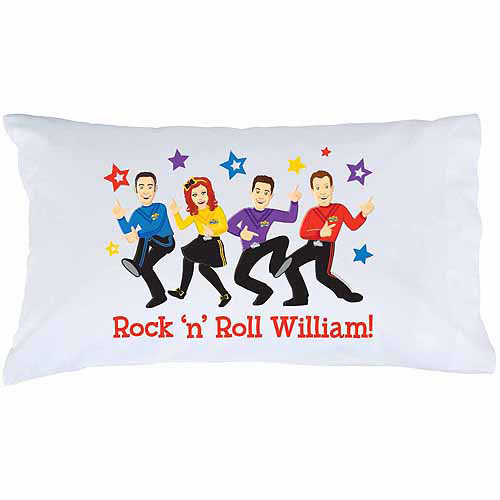 Personalized The Wiggles Rock 'n' Roll Pillowcase