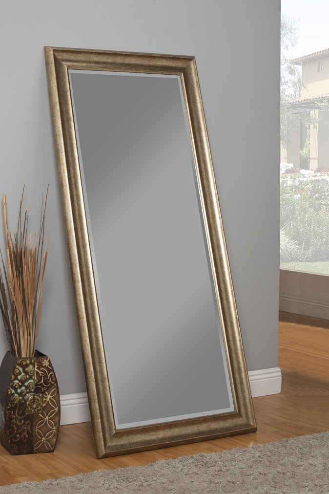Click here to buy Antique Gold Full Length Leaner Mirror by Sandberg Furniture.