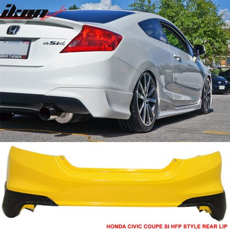 12-13 Honda Civic Coupe Si Only HF-P Style Rear Aprons Lip - Polyurethane (PU) Body Kit Rear Apron