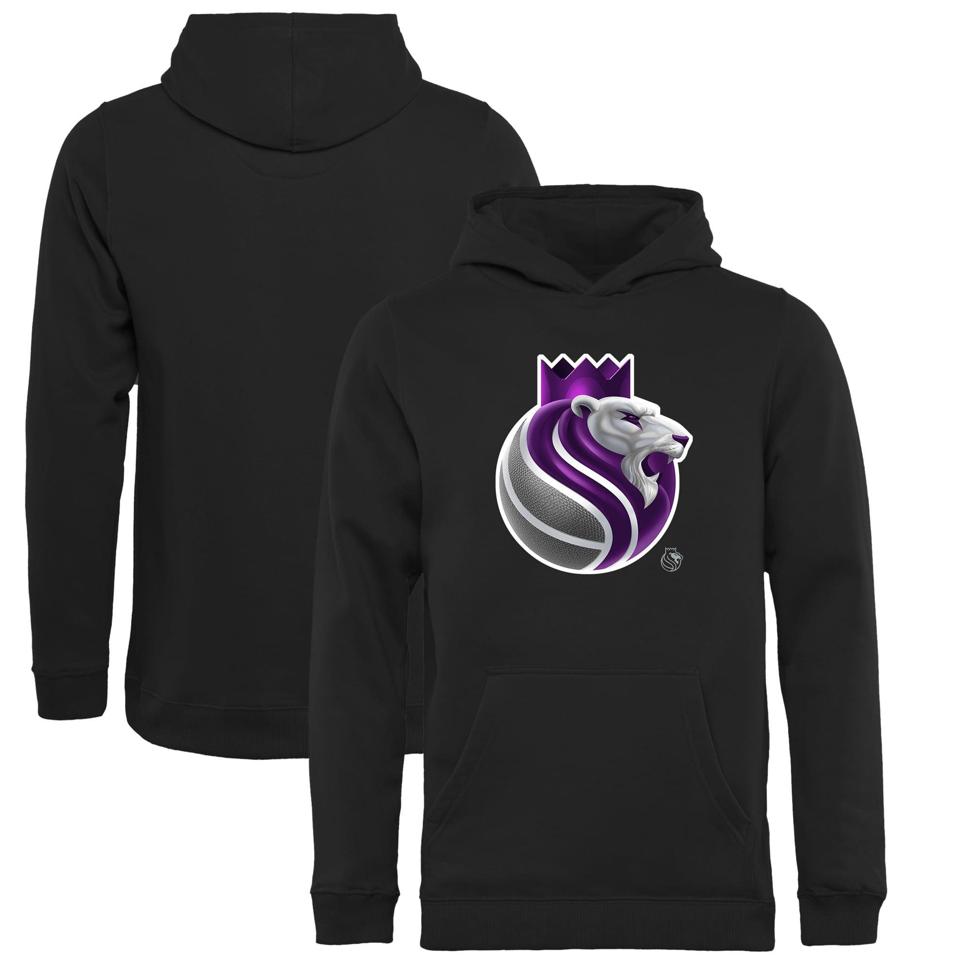 Sacramento Kings Fanatics Branded Youth Midnight Mascot Pullover Hoodie - Black - Yth XL