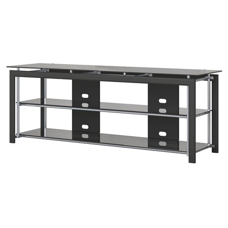 Fb Flat Black Accessories - Bush Furniture Midnight Mist 65W TV Stand for Flat Screens in Black