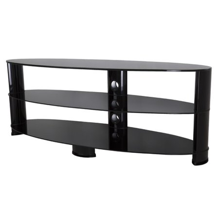 Avf Tv Stand With Glass Shelves For Tvs Up To 65 Black Walmartcom