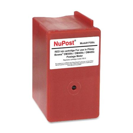 NuPost Non-OEM New Build Red Postage Meter Ink Cartridge (Alternative for Pitney Bowes 765-9) (8000 (Pitney Bowes 621 1 Red Ink Cartridge)