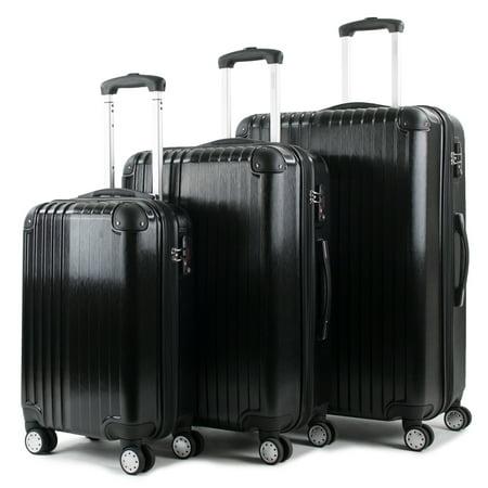 American Green Travel AGT Melrose 3-piece TSA Lock Hardside Expandable Spinner Luggage Set
