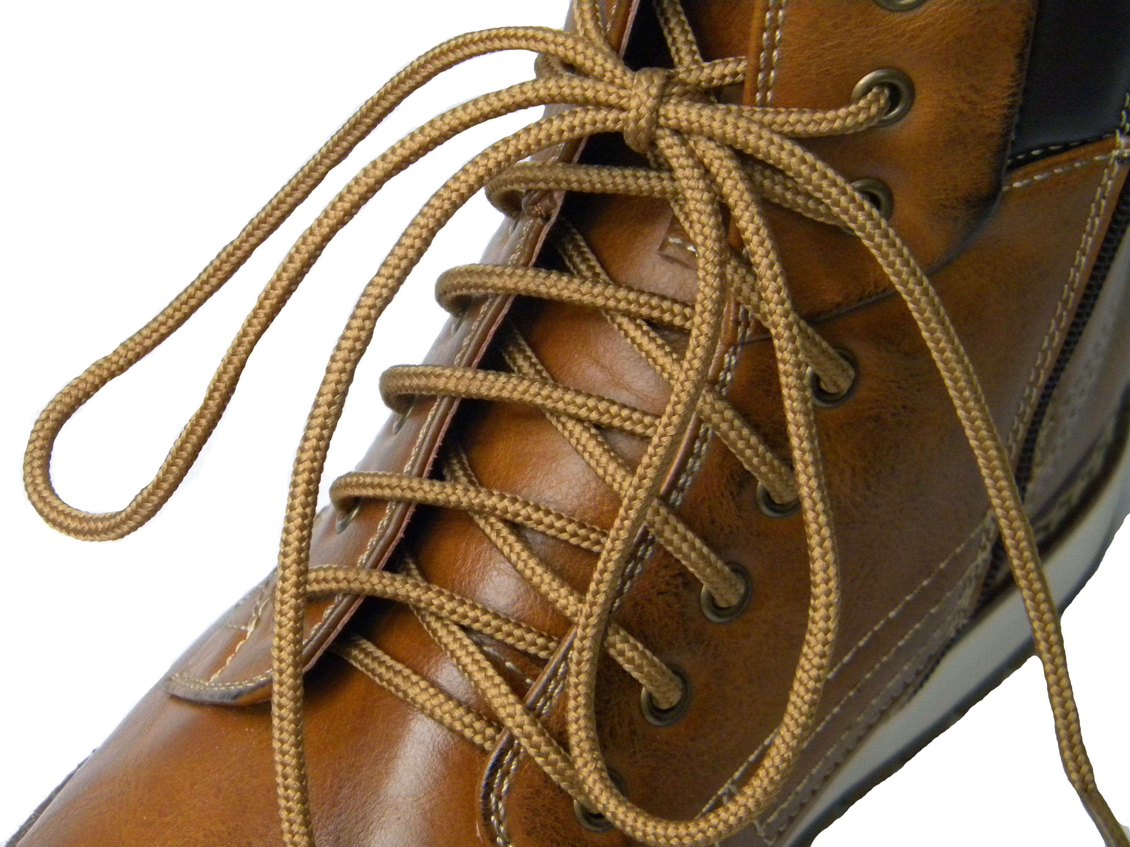 Dark brown round shoe and boot laces By Truka 99p