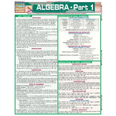 Algebra Part 1 (Algebra 1 Textbook Glencoe)