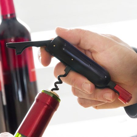 Deluxe Waiters Corkscrew - Eutuxia Wine & Beer Bottle Opener with Waiters Corkscrew Extractor. Folding Compact Design with Magnetic Backing for Convenient Storage. Perfect Item for Enthusiasts. Easily Pull Corks and Enjoy Wine.