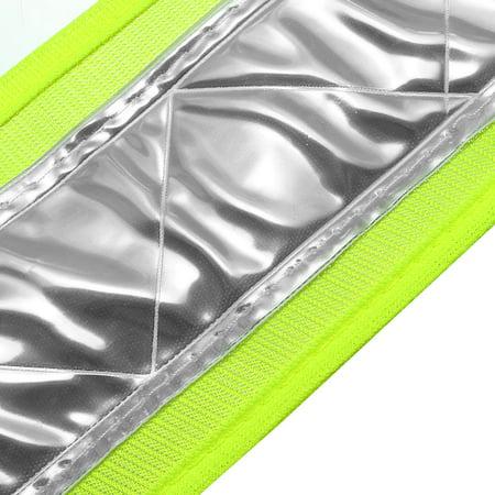 Reflective Mesh Design Security Vests for Jogging Traffic Safety Green - image 1 de 3
