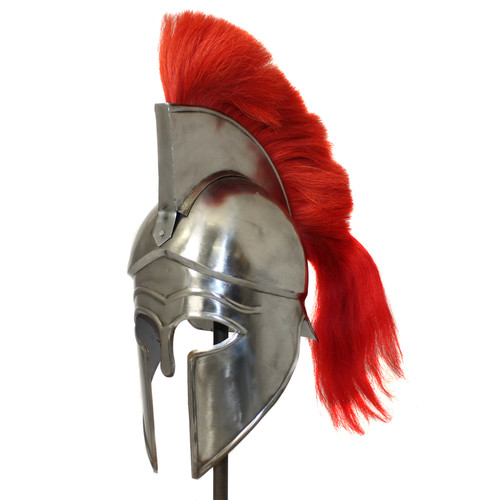 EC World Imports Antique Replica Corinthian Red Plume Armor Helmet by EC World Imports