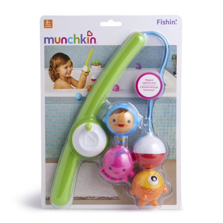 Munchkin Fishin' Bath Toy, Includes (1) Magnetic Fishing Rod and (3) Underwater Bobbers