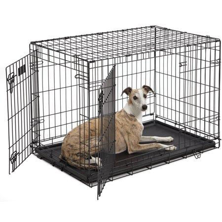 Midwest 36 icrate double door dog crate for Double door with dog door