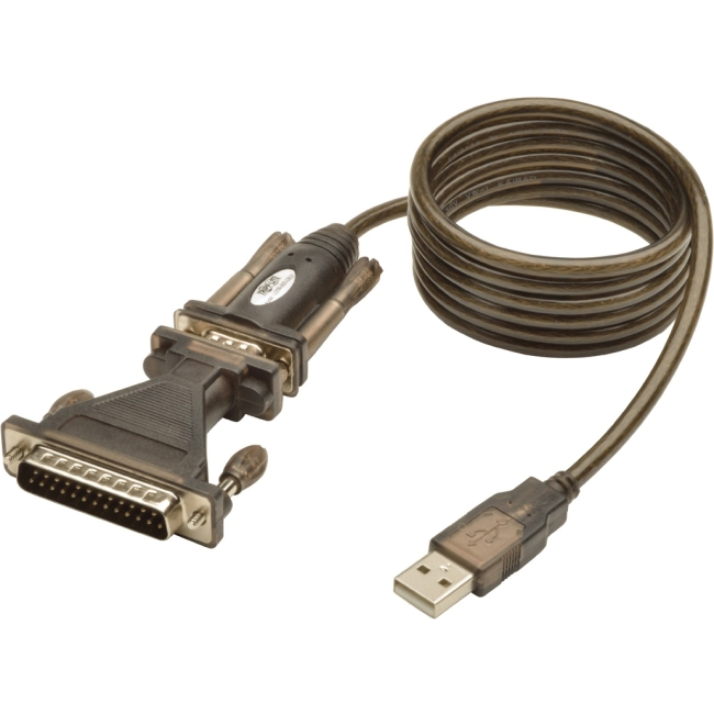 Tripp Lite 5ft USB to Serial Adapter Cable (USB-A to DB25 M/M)