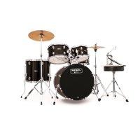 Mapex RB5044FTCDK Rebel 5-Piece Drumset w/ Hardware & Cymbals - Black