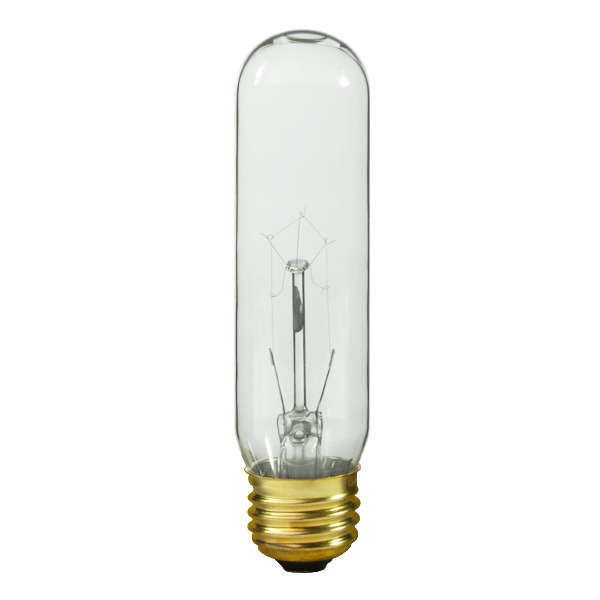 Satco S3896   60 Watt Light Bulb   T10   Clear   1,000 Life Hours