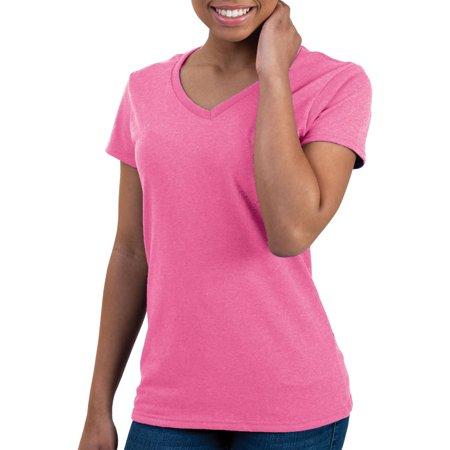 Gildan Women 39 S Short Sleeve Fitted V Neck T Shirt