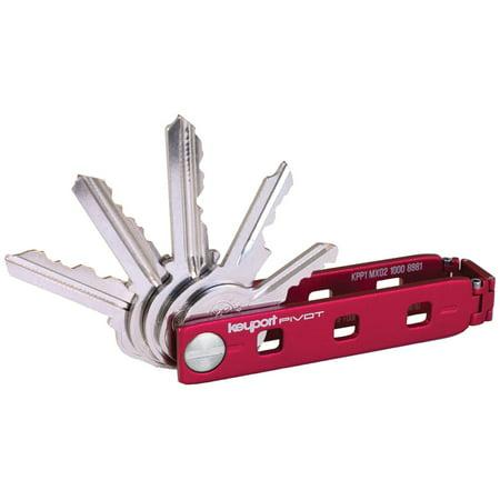 Keyport Pivot   Key Organizer + Modular Swiss Army Keychain Multi-Tool + Built-In Lost & Found ALL-IN-ONE (Red)