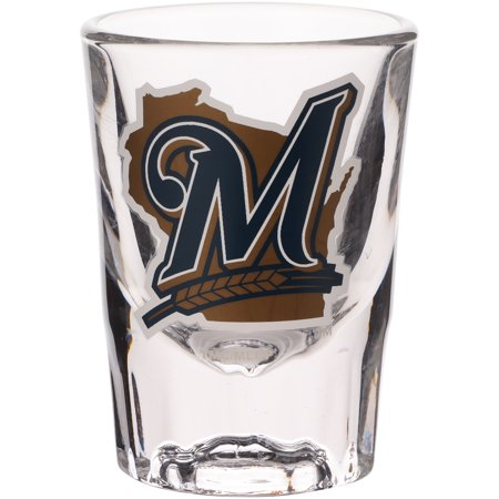 Milwaukee Brewers 2oz. Fluted Collector Shot Glass - No (Boelter Milwaukee Brewers Glass)