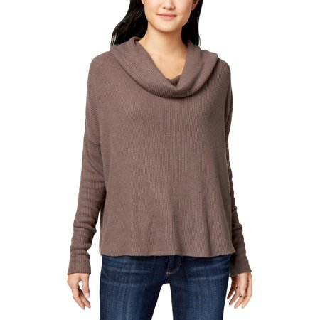 Lucky Brand Womens Tulip Hem Cowl Neck Pullover Sweater Gray XL Cable Cowl Neck Sweater
