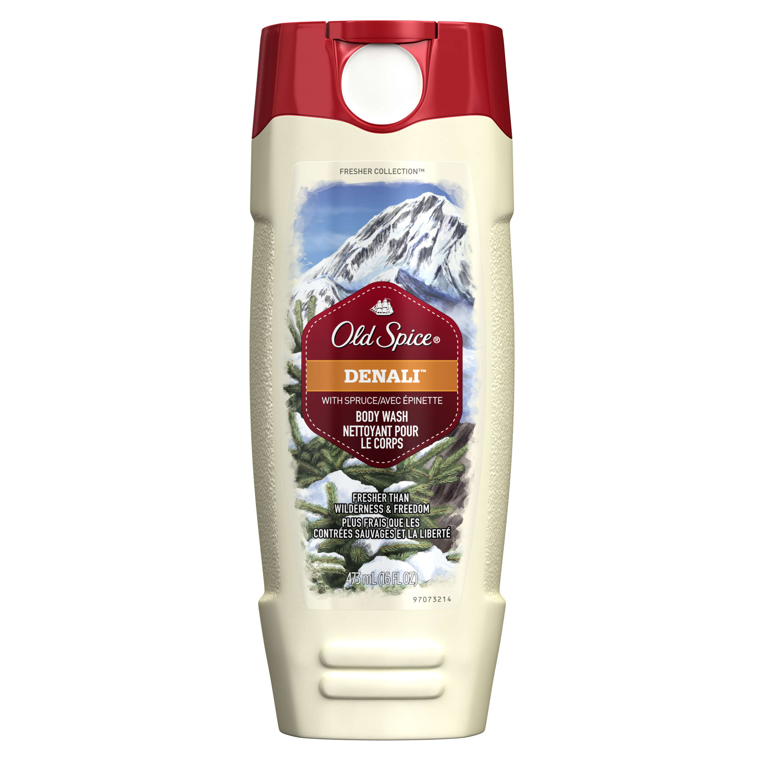 Old Spice Fresher Denali Scent Body Wash for Men, 16 oz