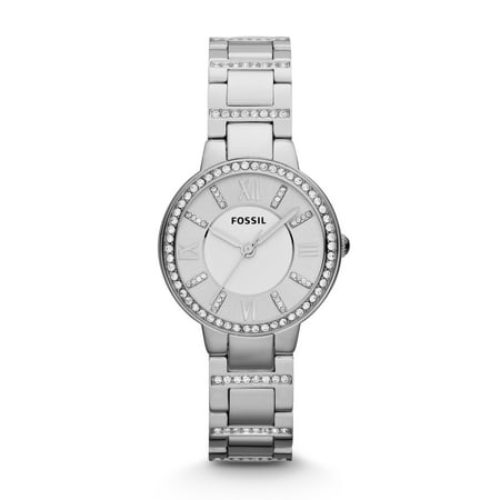 Fossil Women's Virginia Stainless Steel Glitz Watch (Style: ES3282) (Fossil Watch Women Heart)