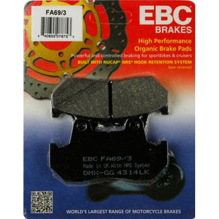 (EBC Organic FA Series Brake Pad - Rear for Honda Gold Wing 1500/SE/Aspencade 1990-2000)