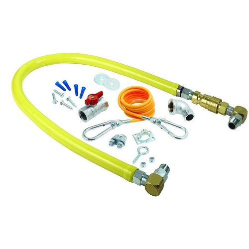 "T and S Brass HG-4E-36SK Safe-T-Link 36"" Gas Appliance Connector Hose with Insta"