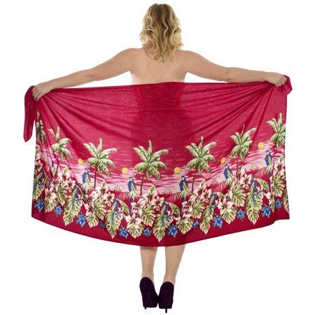 23cbe45be7 LA LEELA Beach Wrap Sarong Swim cover up Women s Swimwear Printed ...